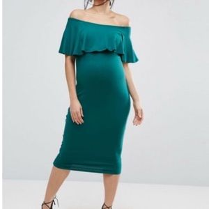 ASOS Maternity Off the Shoulder Bodycon Dress 4